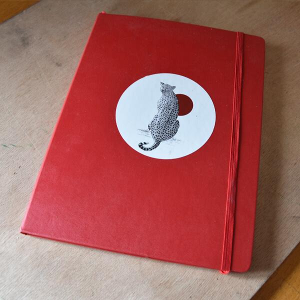Stickers originaux d'animaux sauvages dessinés à l'encre de chine